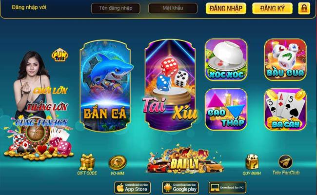 Chơi game bầu cua đổi thưởng tại Fun365 Club